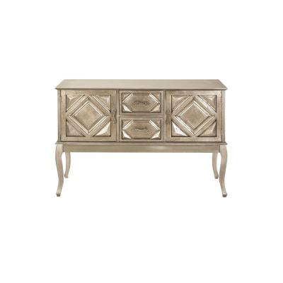 New Traditional White Gold Wooden Console Cabinet