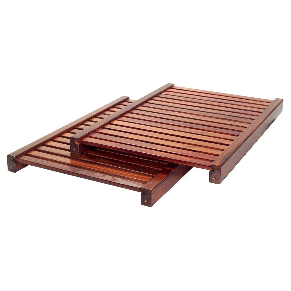 John Louis Home 16 in. Deep Adjustable Shelf Kit -Red Mahogany