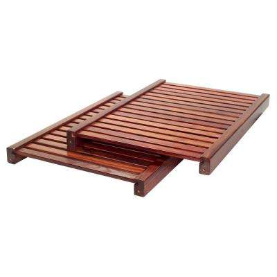 16 in. Deep Adjustable Shelf Kit -Red Mahogany