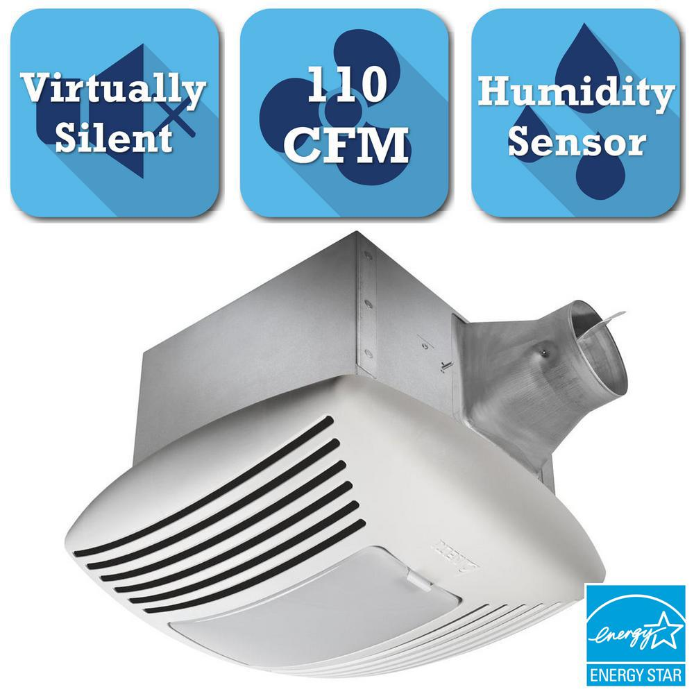 Humidity sensing bathroom fan - Delta Breez Signature G2 Series 110 Cfm Ceiling Exhaust Bath Fan With Adjustable Humidity Sensor And