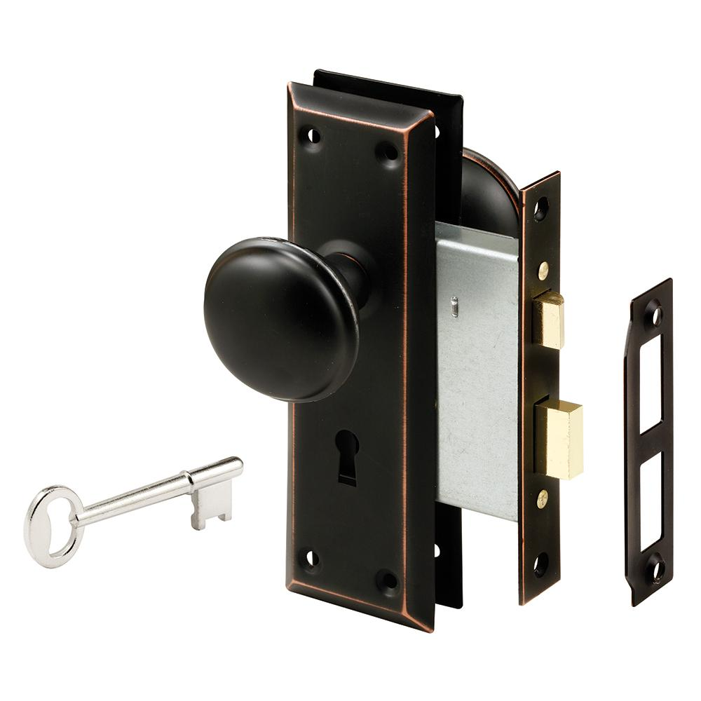 Prime line steel classic bronze interior door lock e - Old fashioned interior door locks ...