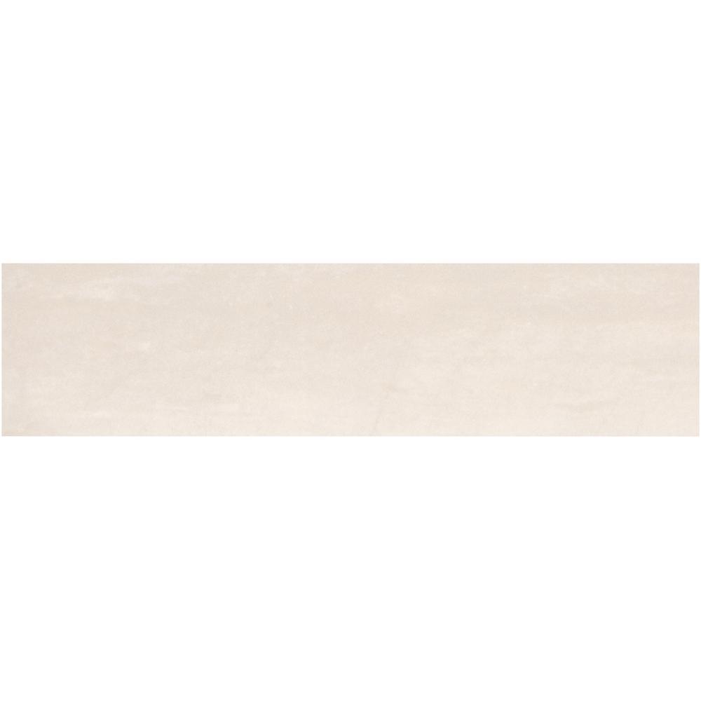 Sanford Alabaster Matte 6 in. x 24 in. Color Body Porcelain Floor and Wall Tile (10.67 sq. ft. / case)