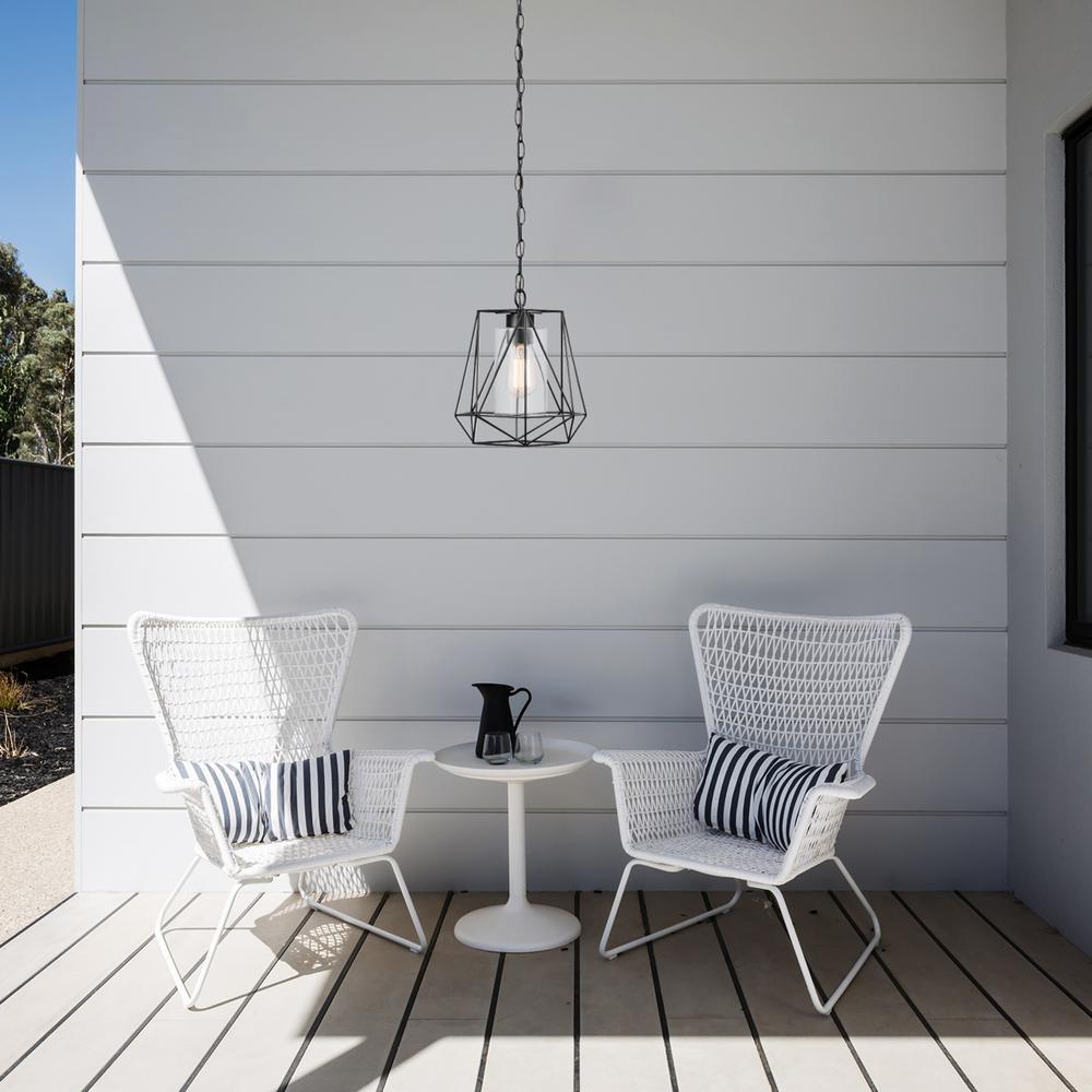 Sansa 1-Light Black Outdoor/Indoor Hanging Pendant