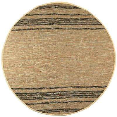 Tan Leather 8 ft. x 8 ft. Round Area Rug