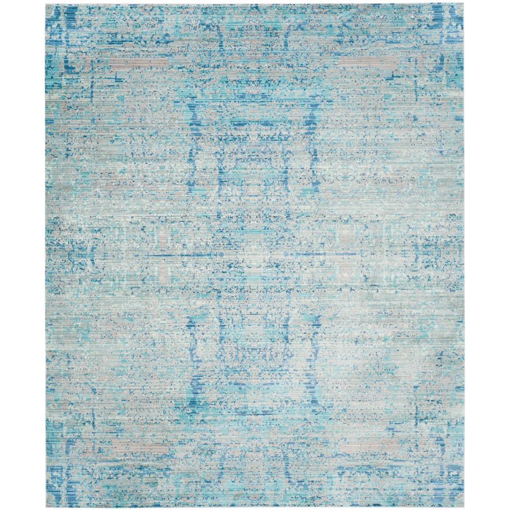 Mystique Light Blue/Multi 9 ft. x 12 ft. Area Rug