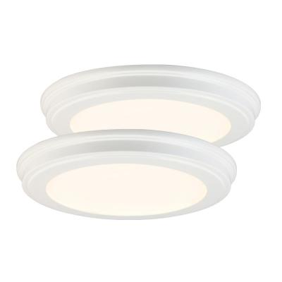 13 in. White Color Changing LED Ceiling Flush Mount (2-Pack)