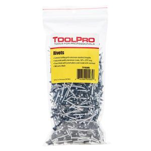 ToolPro 1/8 inch Black Aluminum Pull Rivets (500-Piece) by ToolPro