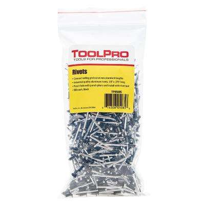 1/8 in. Black Aluminum Pull Rivets (500-Piece)