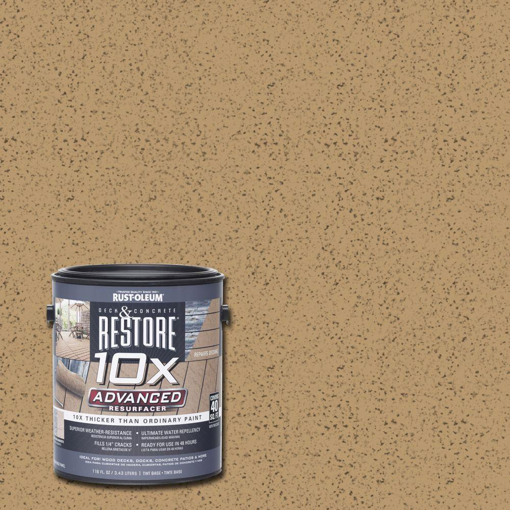 Rust Oleum Restore 1 Gal 10x Advanced Sandstone Deck And