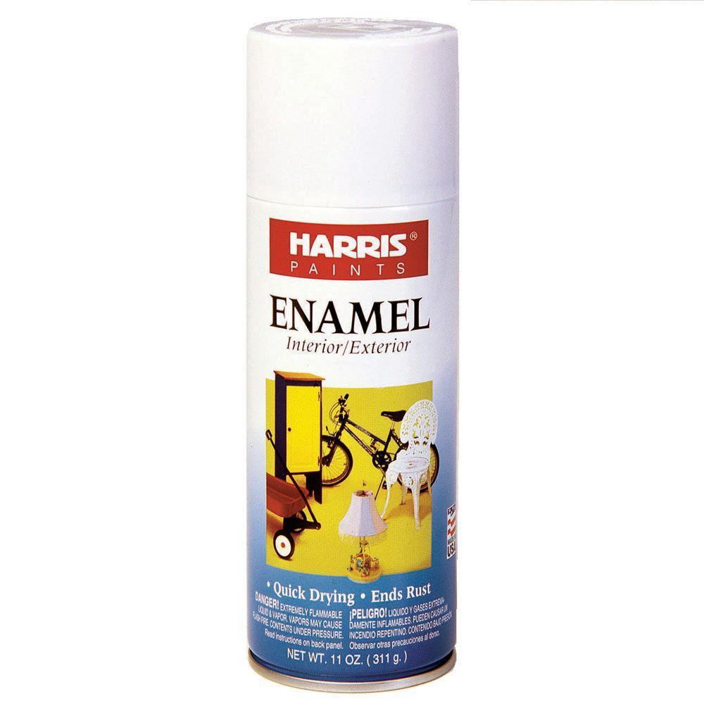 Harris 11 oz  Gloss Enamel White Spray Paint