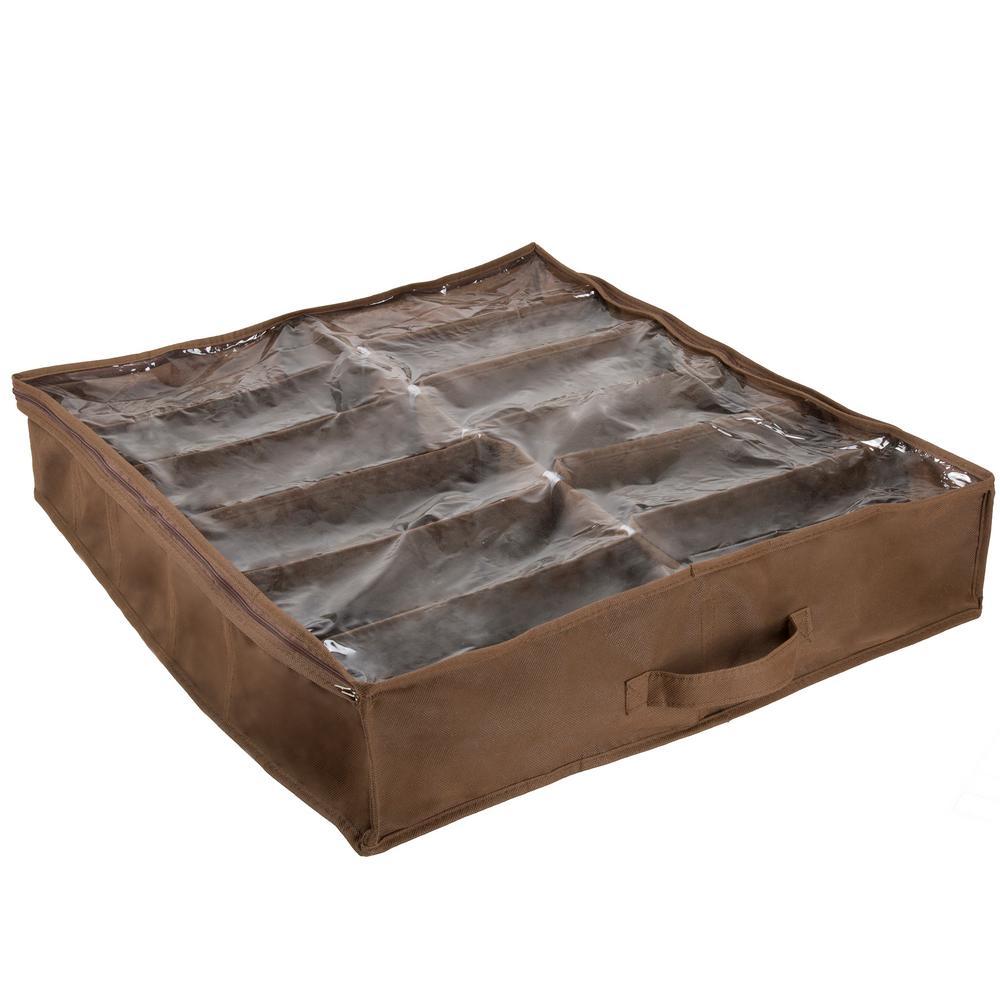 12-Pair Under Bed Shoe Storage Organizer