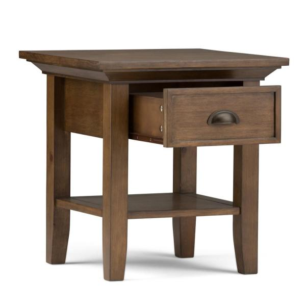 Dark Brown :Bundle Simpli Home Amherst Coffee Table Simpli Home Amherst End Side Table Dark Brown