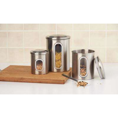 3-Piece Stainless Steel Canister Set