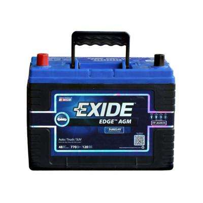 Edge 12 volts Lead Acid 6-Cell 34 Group Size 770 Cold Cranking Amps (BCI) Auto AGM Battery