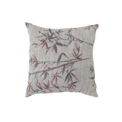 Anika 22 in. Contemporary Standard Throw Pillow in Red