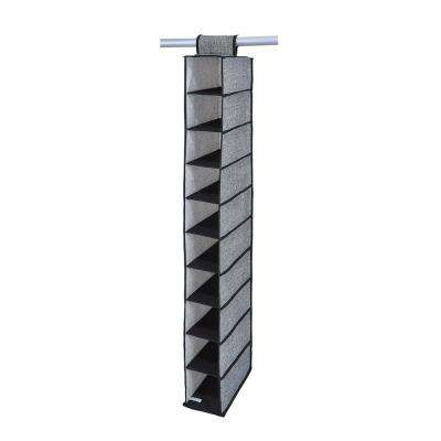 6 in. x 12 in. x 47 in. 10 Shelf Shoe Organizer in Black