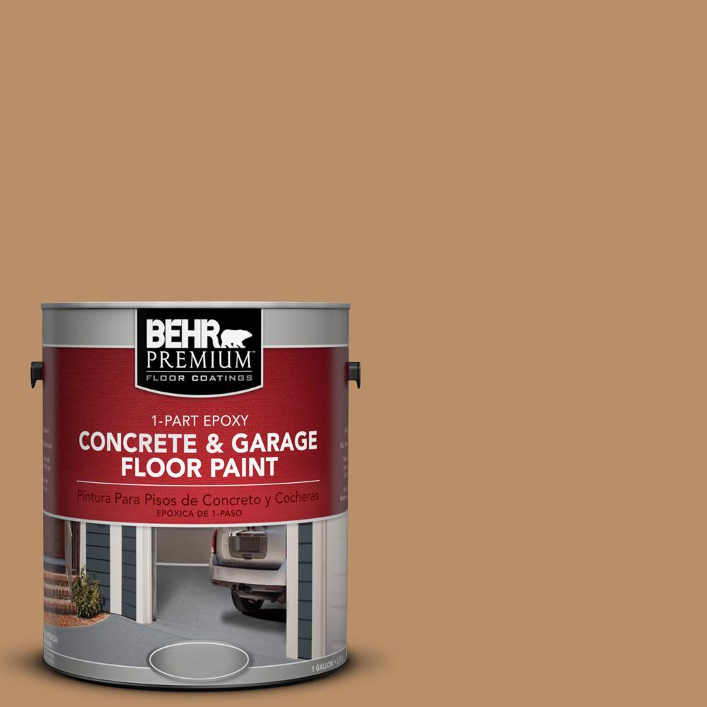 1 gal. #S260-5 Almond Roca 1-Part Epoxy Concrete and Garage Floor Paint