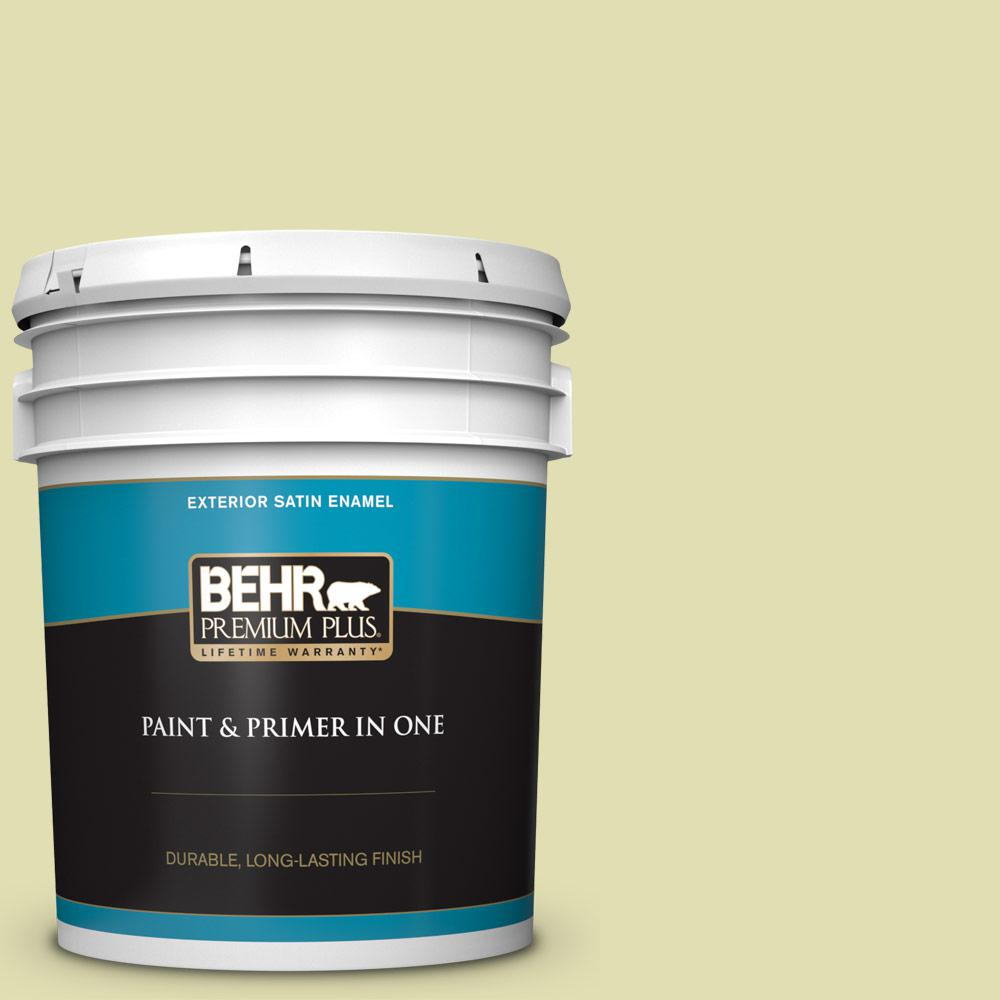 M340 3 Pale Green Grape Satin Enamel Exterior Paint And Primer In One
