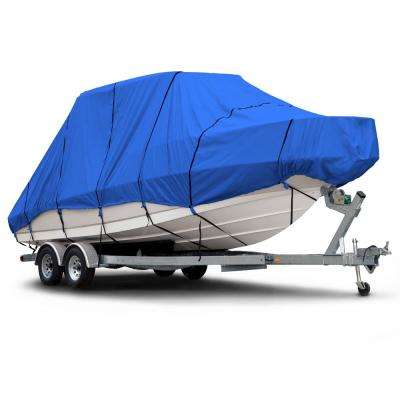 Sportsman 600 Denier 24 ft. to 26 ft. (Beam Width to 106 in.) Blue Hard Top/T-Top Boat Cover Size BTHT-8