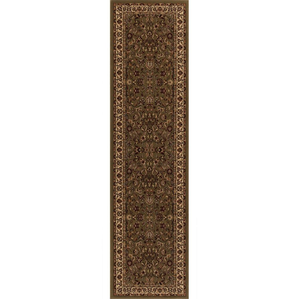 Persian Classics Kashan Green 2 ft. x 7 ft. 7 in.