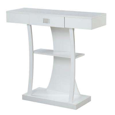 Newport White Harri Console Table