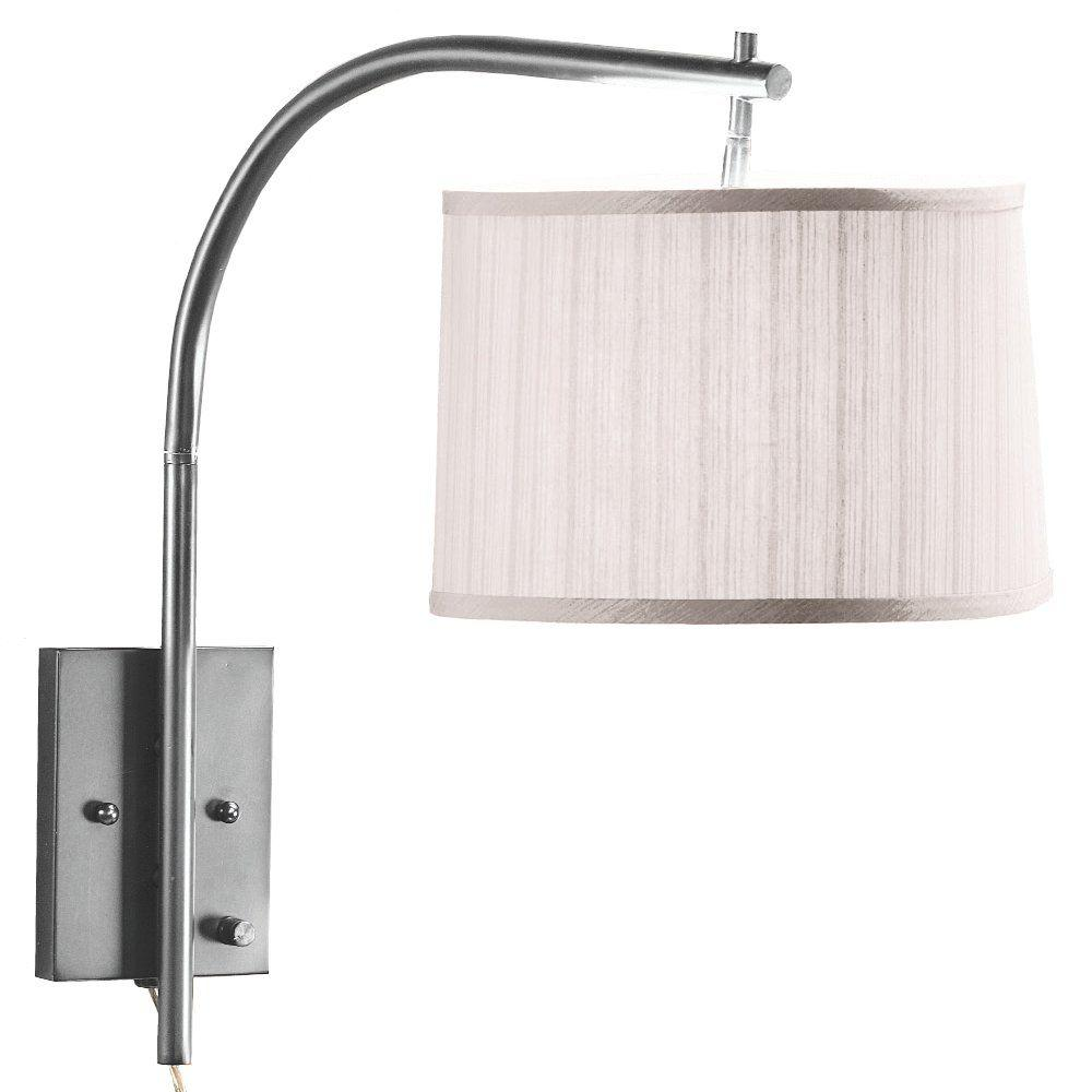 Home Decorators Collection 1-Light Brushed-Steel Swing-Arm Lamp