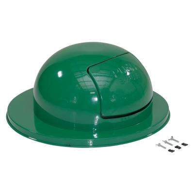 Steel Waste Disposal Top For Drum-Green