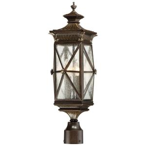 the great outdoors by Minka Lavery Rue Vieille 4-Light Forged Bronze Post Mount by the great outdoors by Minka Lavery