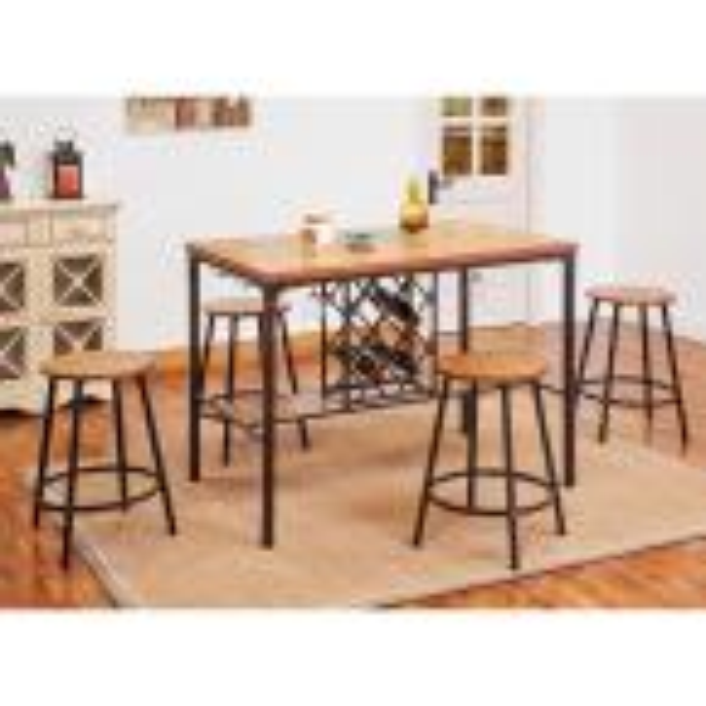 ACME Furniture Dora Oak Wine Storage Pub/Bar Table