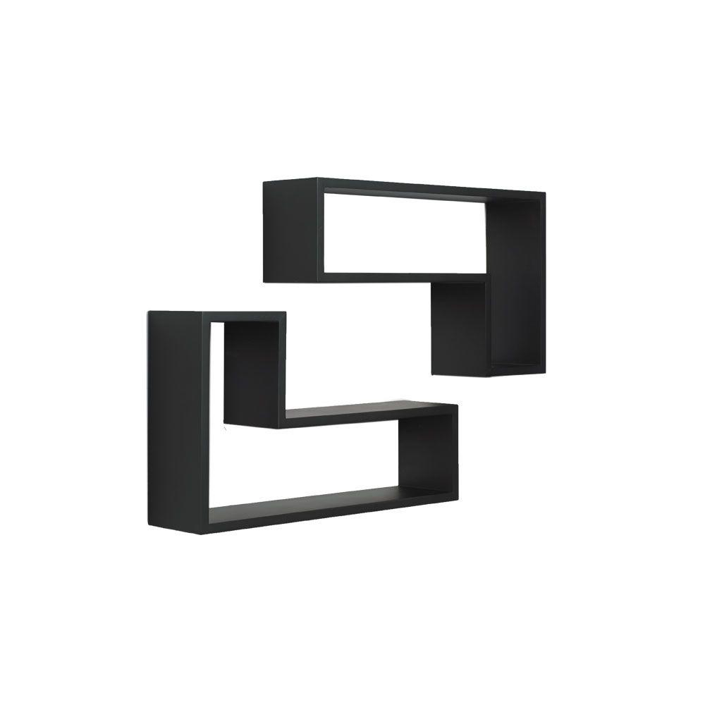 Floating Black L-Shaped Decorative
