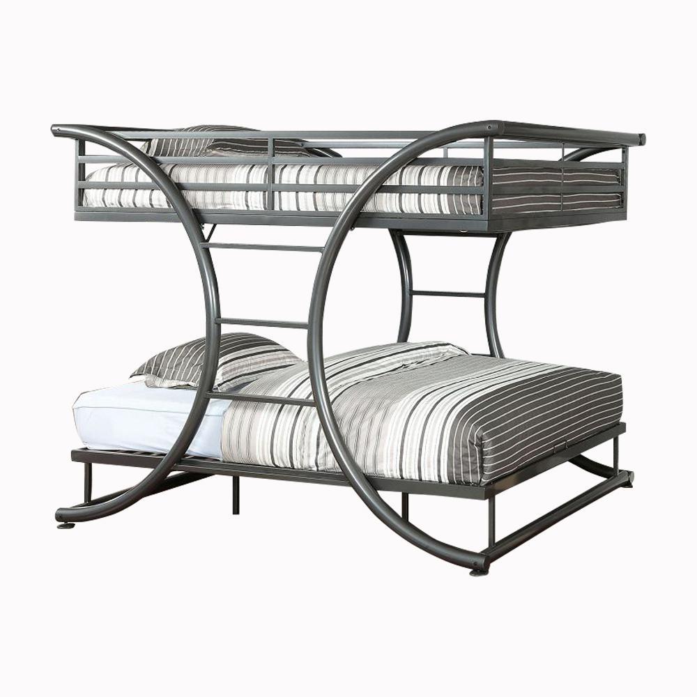 Lexis Gun Metal Full Bunk Bed