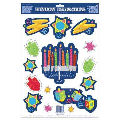 Happy Hanukkah Window Decoration (6-Pack)