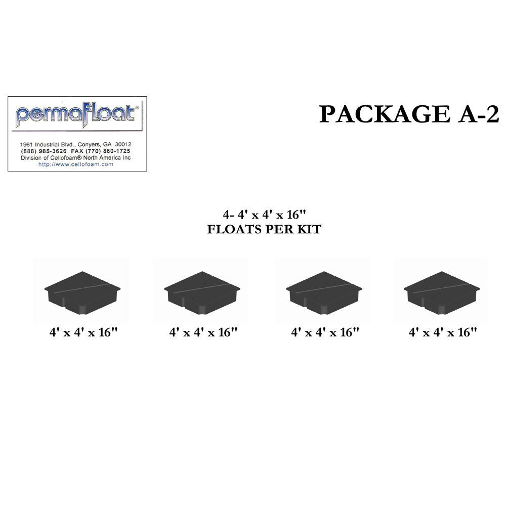 PermaFloat 16 in. Deep Dock System Float for Kit A