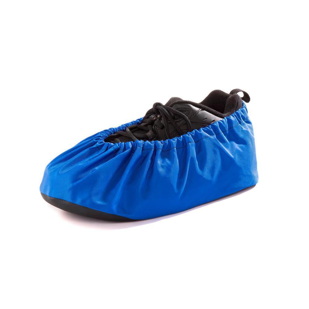 Unisex Size Large Royal Blue Washable Shoe Covers Non-Skid (1-Pair)