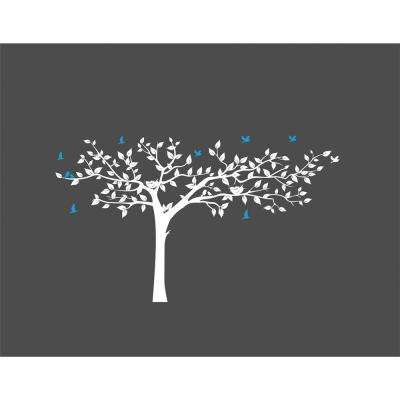 133 in. x 90 in. Multi Super Big Tree Removable Wall Decal