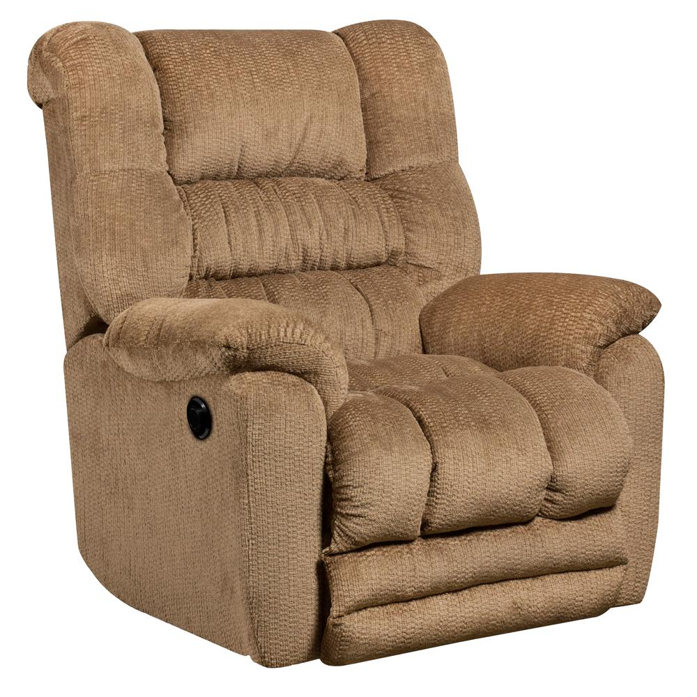 Flash Furniture Contemporary Temptation Fawn Microfiber Power Recliner With  Push Button AMP95606450   The Home Depot