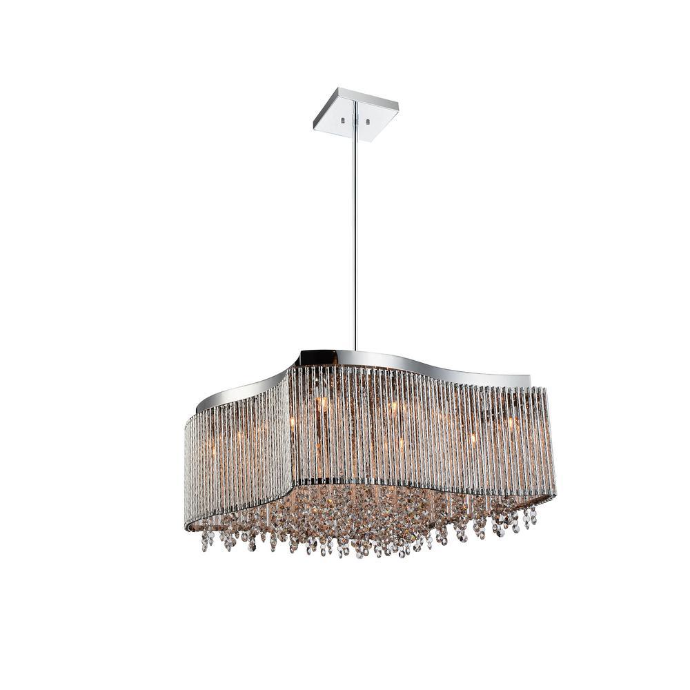 Claire 6-light chrome chandelier
