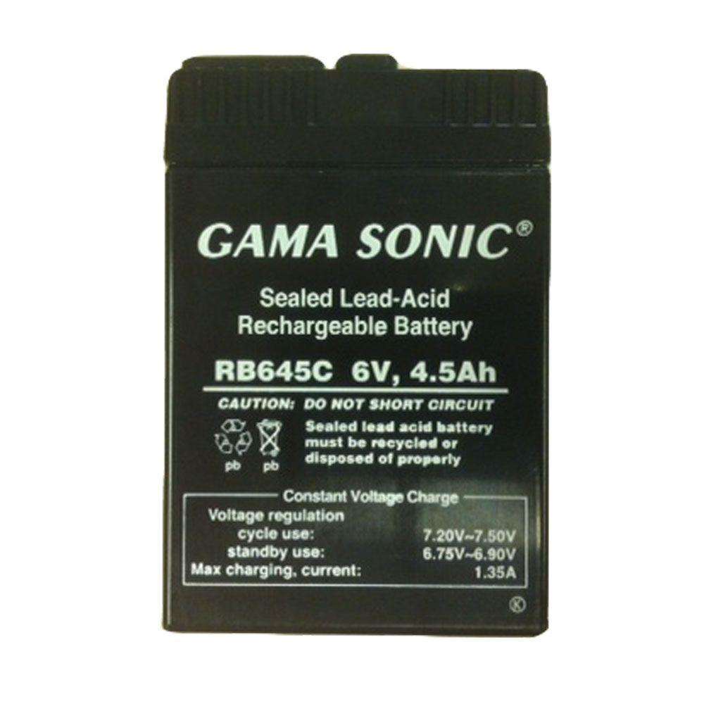 Gama Sonic Replacement 6-Volt Lead Acid Battery for GS-26R Fan