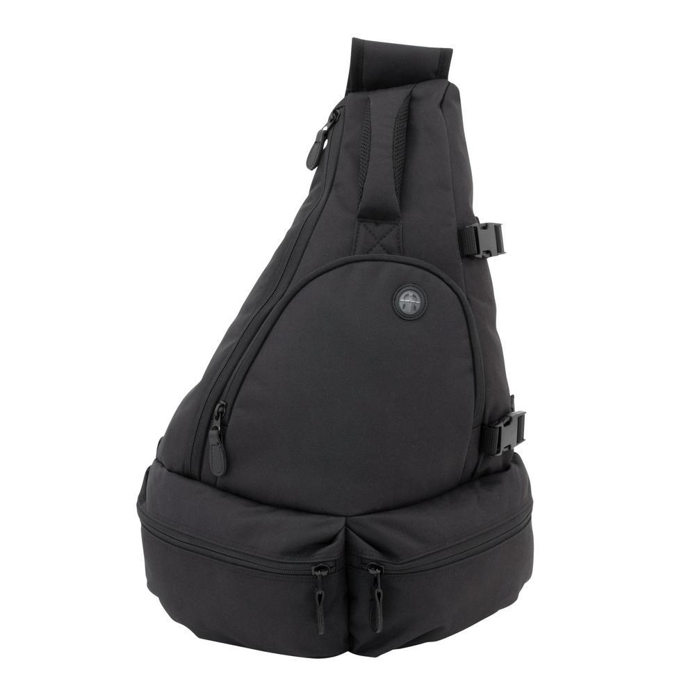 Mercury Luggage Sling Bag in Black-MRC1148-BK - The Home Depot 58f3989914bad