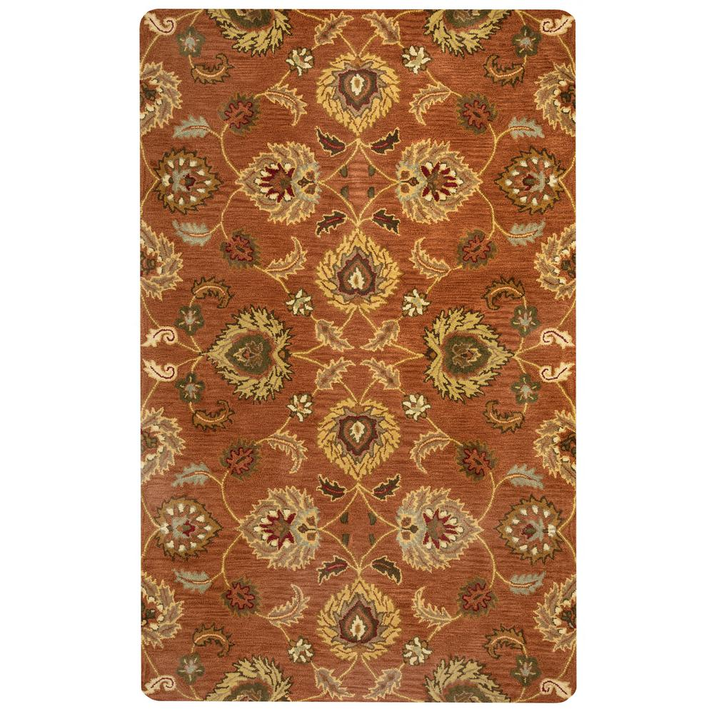 Rizzy Home Valintino Rust Hand Tufted Wool 9 Ft X 12 Ft Area Rug