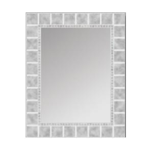 Deco Mirror 36 inch L x 24 inch W Large Glass Block Rectangle Wall Mirror by Deco Mirror