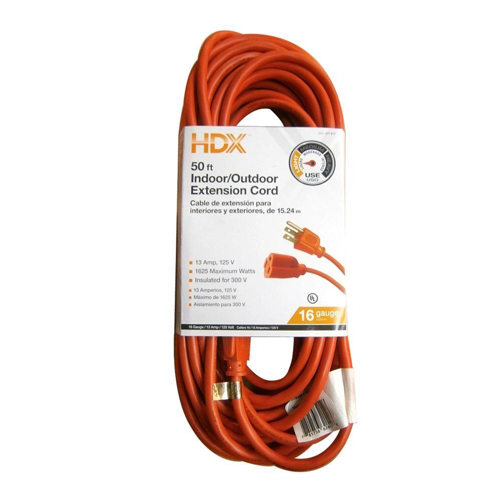 10/' FT 16 Gauge Orange Indoor//Outdoor Extension Cord