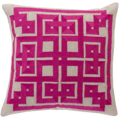 Chieti Purple Geometric Polyester 20 in. x 20 in. Throw Pillow