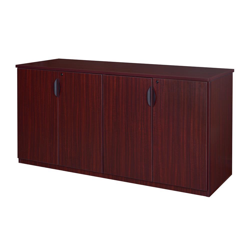 Magons 72 in. Mahogany Storage Cabinet Buffet