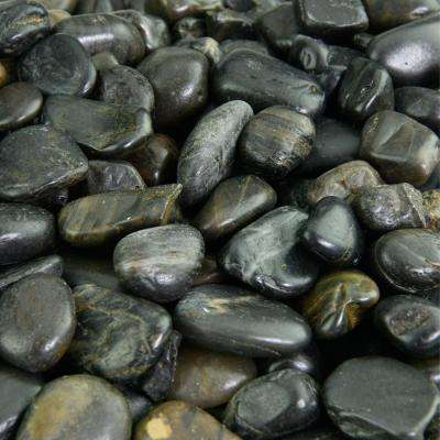 5 lbs. of Black 3/8 in. to 5/8 in. Polished Pebbles