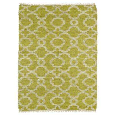 Kenwood Lime Green 8 ft. x 9 ft. Double Sided Area Rug