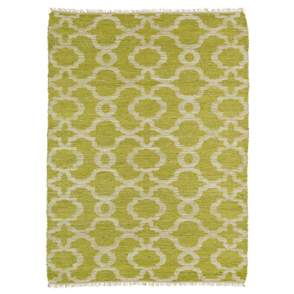 Lime Green Grey Area Rug: Kaleen Kenwood Turquoise 8 Ft. X 11 Ft. Double Sided Area
