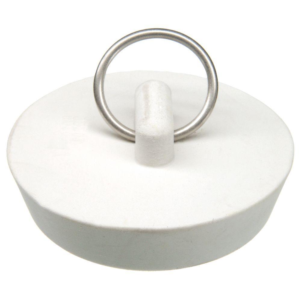 1-3/4 in. Kitchen Sink Stopper in White