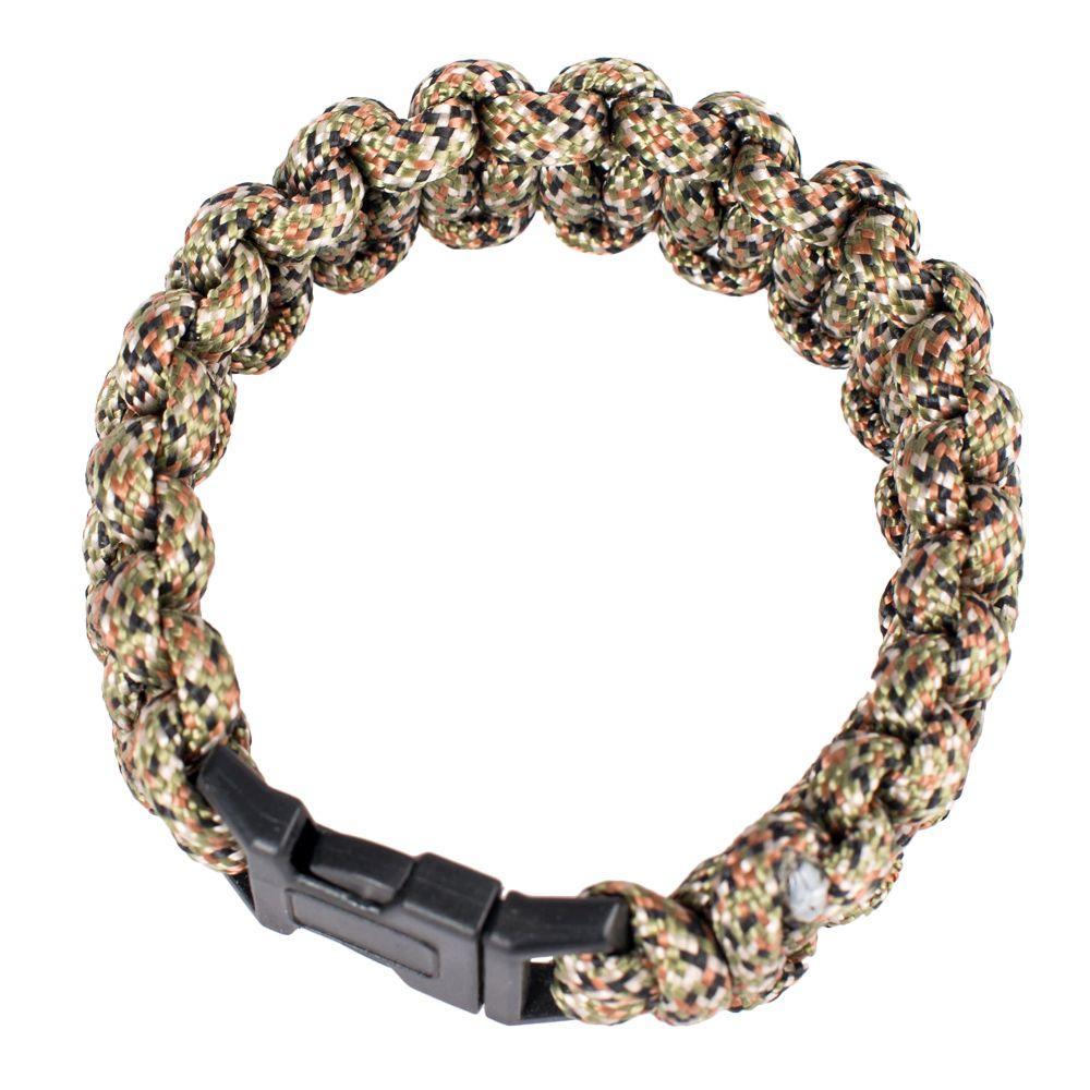 Polyester Survival Paracord Bracelet Camo
