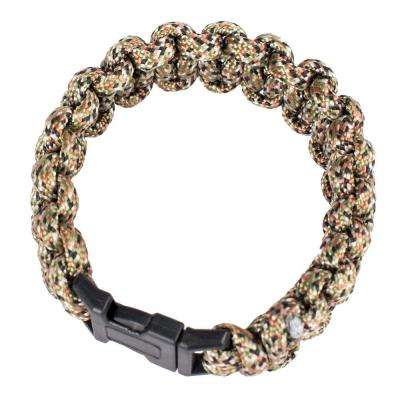 9 in. Polyester Survival Paracord Bracelet - Camo